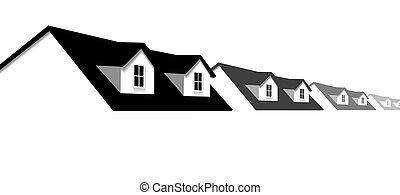 지붕창, 창, 지붕, 집, 가정, 경계, 열