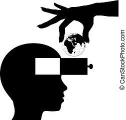 지식, 마음, 학생, 배우다, 세계, 교육