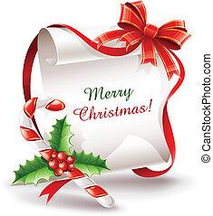 지팡이, 캐러멜, 인사장, 크리스마스