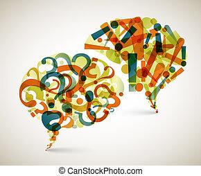 질문, 떼어내다, -, 응답, 삽화
