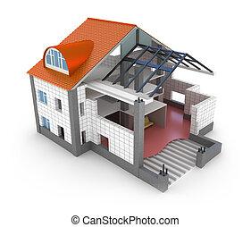 집, 계획, 건축술, 고립된