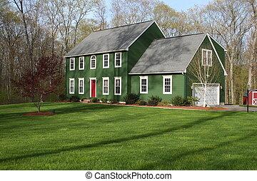 집, 2, 녹색