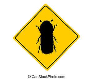 짖는 소리, 경고, 딱정벌레, 표시