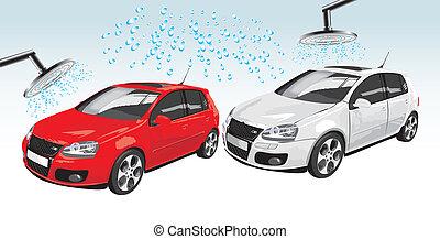 차, 세탁물, 자동차