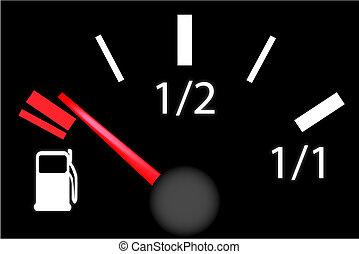 차, 판자, 가솔린, 돌진, 미터