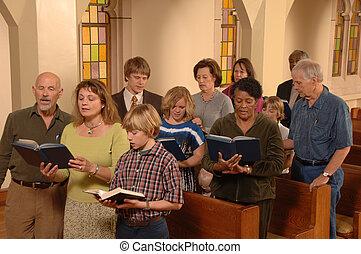 찬송가, 노래하는, 교회