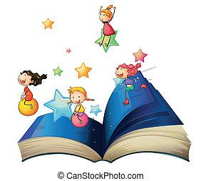 책, 아이들 놀