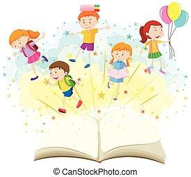책, 아이들, 행복하다