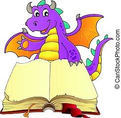 책, 열려라, 용, 행복하다