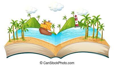 책, 장면, 대양
