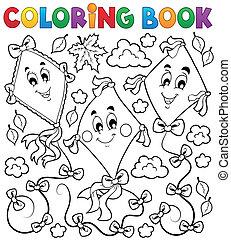 책, 채색, 연, 3