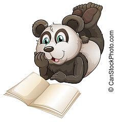 책, 팬더, 빈 광주리