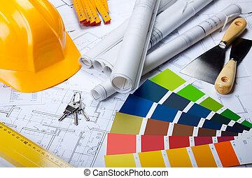 청사진, 도구, 건축술