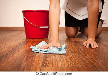 청소, 바닥