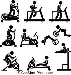 체조, 체육관, 운동, 적당
