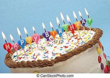 초, 생일, 행복하다