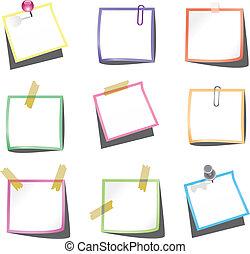 추천, 주, 종이, paperclip, 핀