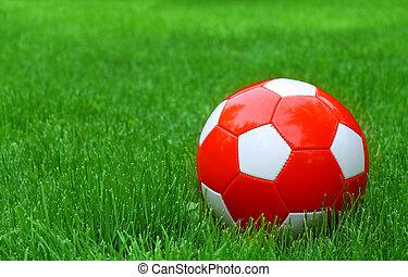축구, 축구, 풀, 녹색