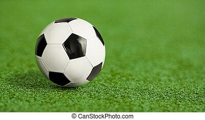 축구, 풀, 녹색, 운동장, 공