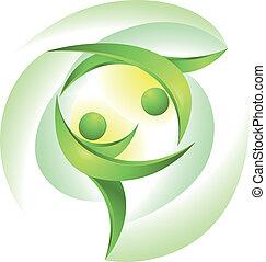 춤추는 사람, 녹색, eco-icon