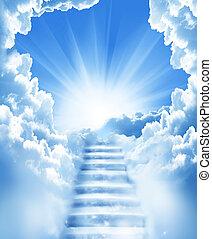 층계, 하늘