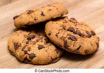 칩, 쿠키, 초콜릿 과자