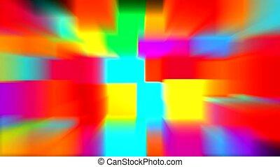 컬러 블록, 광선, 패턴