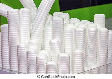 컵, 처분할 수 있는, 플라스틱, 생산