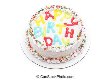 케이크, 생일, 행복하다