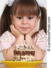 케이크, 소녀, 아이