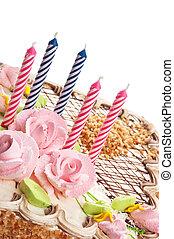 케이크, 초, 생일