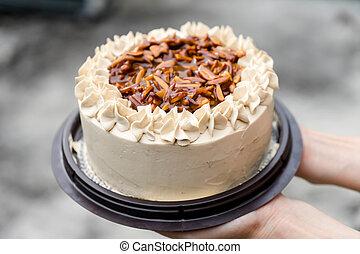 케이크, 커피
