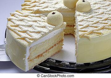 케이크, 코팅, 우유, 가루