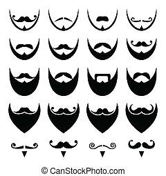 콧수염, 또는, 코밑수염, 수염