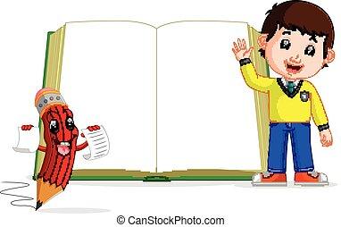 크게, 키드 구두, 책