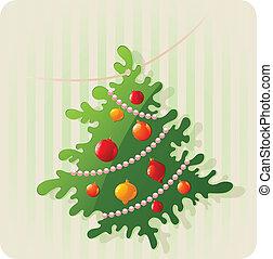 크리스마스, 배경, 나무