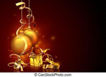 크리스마스, 배경, 빨강