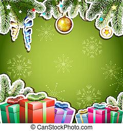 크리스마스, 배경, 선물