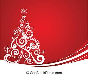 크리스마스, 빨강, 본뜨는 공구