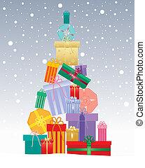 크리스마스 선물, 나무