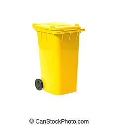 큰 상자, 재활용, 황색, 빈 광주리