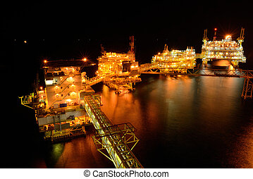 큰, 의장, 기름, 난바다에, 밤