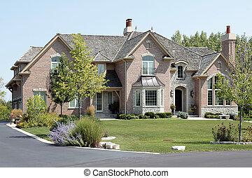 큰, 참가자, 벽돌, 은 활 모양으로 했다, 가정