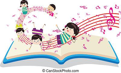 키드 구두, 음악 책, 행복하다