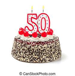 타는 것, 수, 50, 생일 케이크, 양초