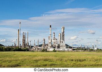 타이, 석유 화학 제품, 오후, 역, 힘, 산업