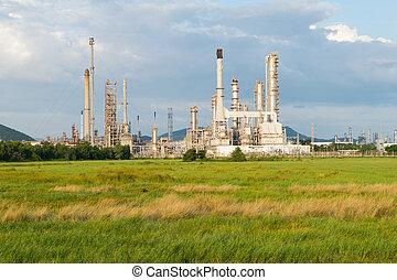 타이, 역, 석유 화학 제품, 힘, 산업, 오후