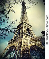 탑, eiffel, 파리