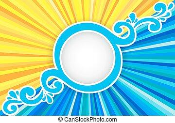 태양 광선, 바다, 배경