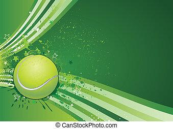테니스, 스포츠, 배경
